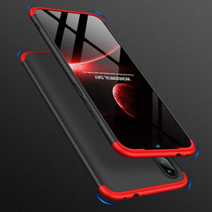 Redmi Note 7 and 7S Ultimate 360 Degree Protection Case + Tempered Glass + Earphone