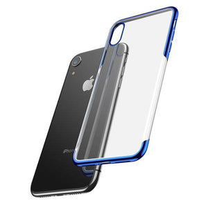 Baseus ® iPhone XR Ultra-Thin Transparent Sparkling Edge Case