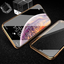 Load image into Gallery viewer, iPhone Series Electronic Auto-Fit (Front+ Back) Glass Magnetic Case