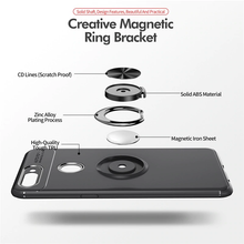 Load image into Gallery viewer, Oppo F9 Pro Metallic Finger Ring Holder Matte Case