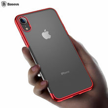 Load image into Gallery viewer, Baseus ® iPhone XR Ultra-Thin Transparent Sparkling Edge Case