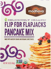 MADHAVA HONEY: Organic Ancient Grains Pancake Mix, 16 oz
