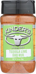 KINDERS: Tequila Lime BBQ Rub, 5.6 oz