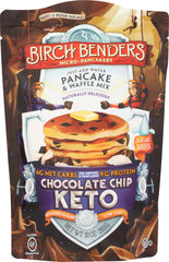 BIRCH BENDERS: Keto Chocolate Chip Pancake and Waffle Mix, 10 oz