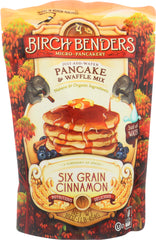 BIRCH BENDERS: Pancake Mix 6 Grain Cinnamon, 16 oz