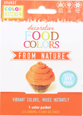 COLORKITCHEN: Food Coloring Orange Single Pack, 2.5 gm