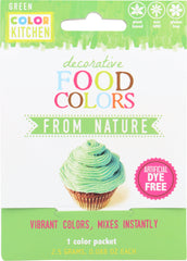 COLORKITCHEN: Food Coloring Green Single Pack, 2.5 gm
