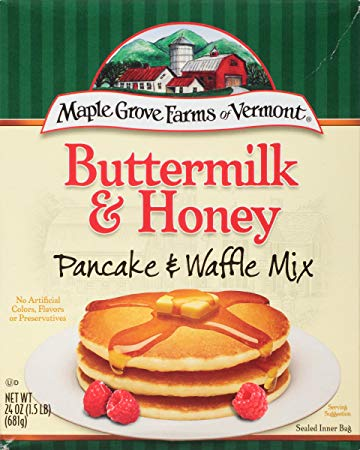 MAPLE GROVE: Mix Pancake Buttermilk Honey, 24 oz
