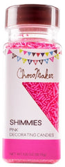 CHOCOMAKER: Shimmies Pink Decorating Candies, 3.25 oz