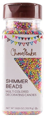 CHOCOMAKER: Shimmer Beads Multicolored Decorating Candies, 3.63 oz