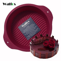 WALFOS Big Round Food Grade Non Stick Silicone Cake Pan 3D Mold Baking Tools Bakeware Maker Tray Birthday Dessert