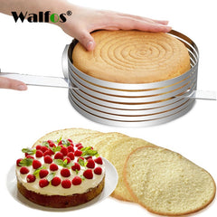 WALFOS New Retractable Stainless Steel Cake Design Circle Mousse Ring Baking Tool Cake Mold Mould Cake Pan Adjustable Cake Tools