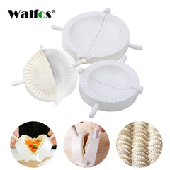 WALFOS 3pieces/set FOOD GRADE Plastic Moulds  Ravioli Dough Press Pastry Dumpling Maker Mold in Different Sizes