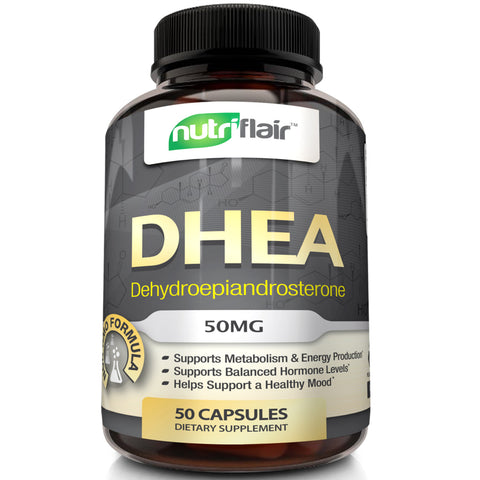 DHEA capsules, made in the USA from one of the best-quality supplement brands.
