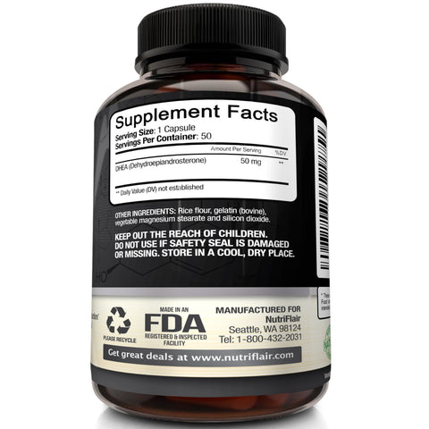 50mg of the best DHEA capsules available.