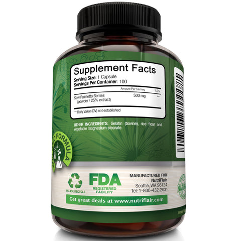 Our high-quality supplements include Saw Palmetto pills, a top supplement for prostates