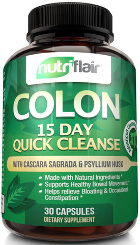 Cleanse your colon with our NutriFlair detox cleans pills.