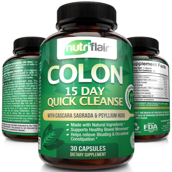 Psyllium husk pills can help with detoxing your colon.