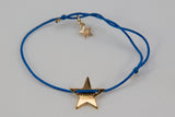 Make-A-Wish Armband goldener Sternanhänger, blaues Band
