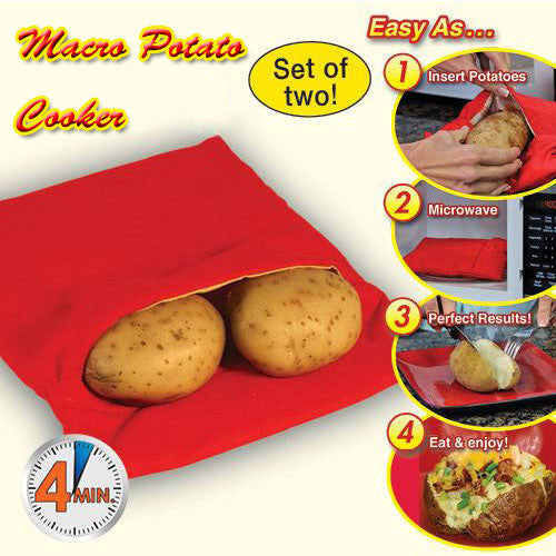 Quick Potato Microwave Baking Sleeve
