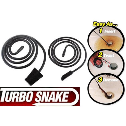 2-Pack Turbo Snake Drain Hair Removal Tool
