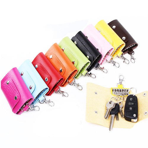 Leather Foldable Key Pouch