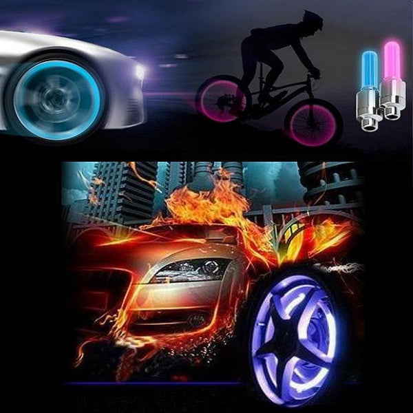 4-Pack Motion Activated LED Valve Stem Lights