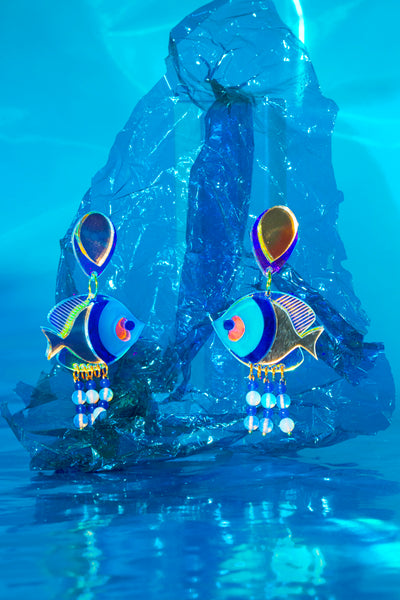 Unique fish earrings