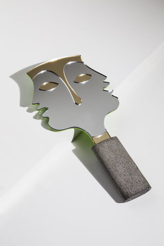"""The two faces of Janus"" Hand mirror."