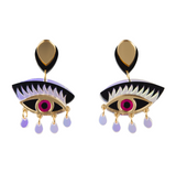 MAGIC eyeonyou gold earrings