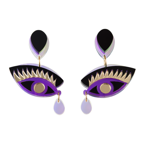 MAGIC eyeonyou purple earrings