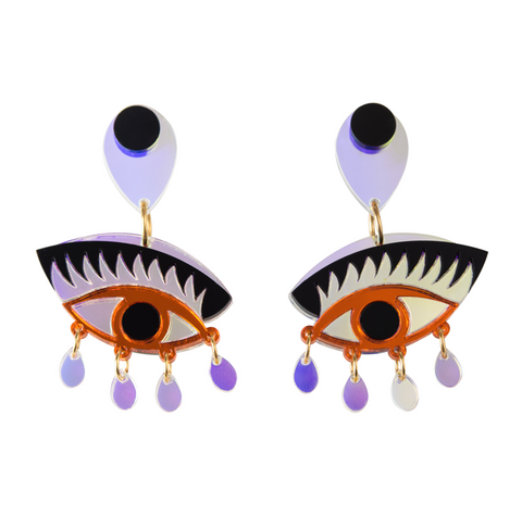 MAGIC eyeonyou orange earrings