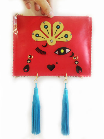 Leather Clutch | Moulin Rouge