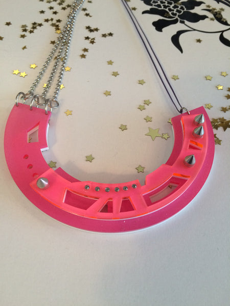 Abstract PINK necklace