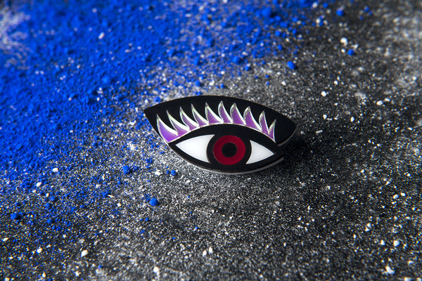 40% OFF!! Eye On You Brooch/ Red