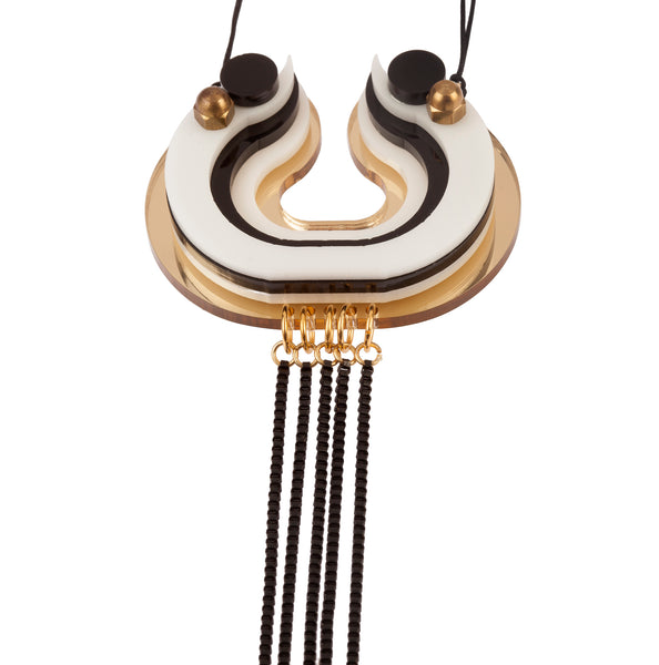 Minoan Necklace #White_Black_Gold