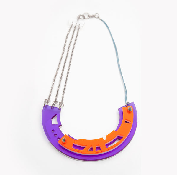 50% OFF!!- Abstract necklace Purple/orange