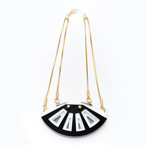 Morocco necklace black/white