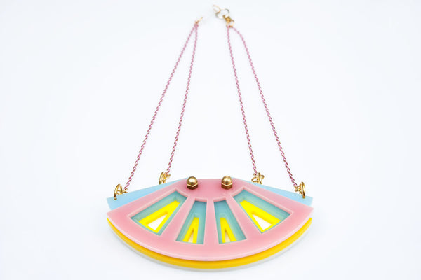 Morocco necklace pastel