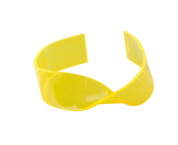 TWIST choker FLUO YELLOW