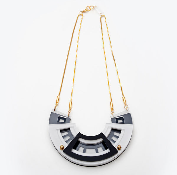 Morocco Necklace Grand Black/White