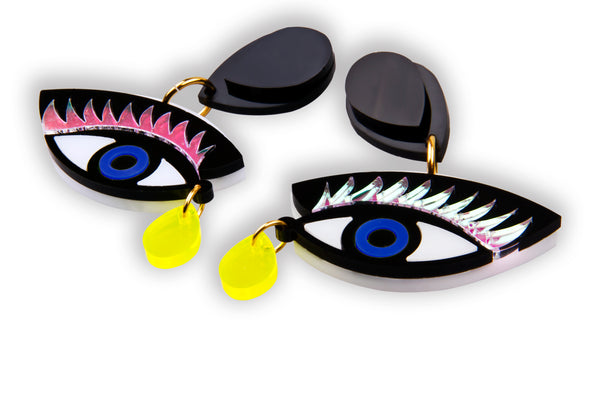 Eye On You Earrings_Blue