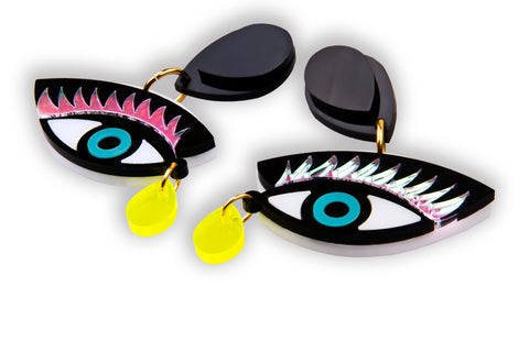 Eye On You Earrings_Cyan