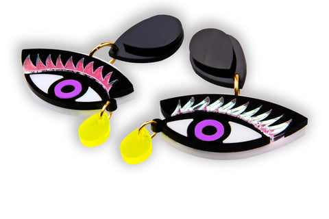 Eye On You Earrings_Purple