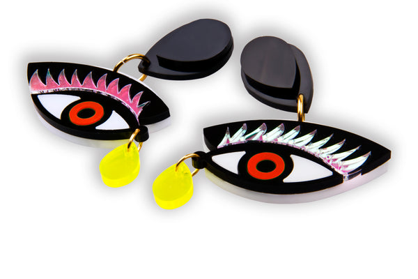 Eye On You Earrings_Red