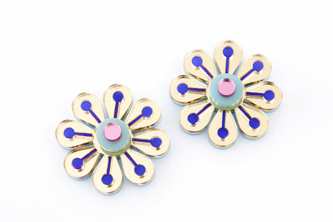 Flower Gold Earrings.