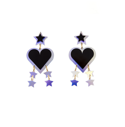 Love Heart&Star earrings