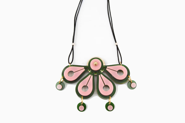 Rain Forest Necklace Pink