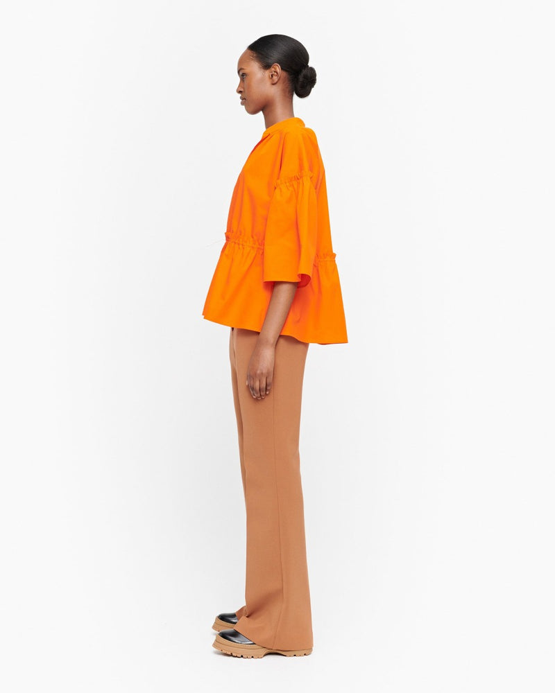 marimekko pelargonia solid blouse, orange