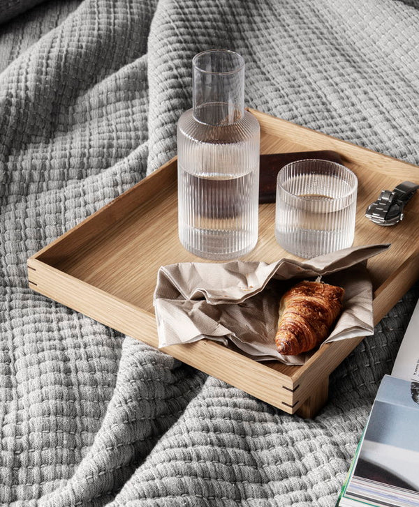 ferm living ripple carafe set small clear